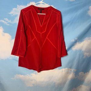 BCBGMAXAZRIA- Red Long Sleeve Blouse size xxs